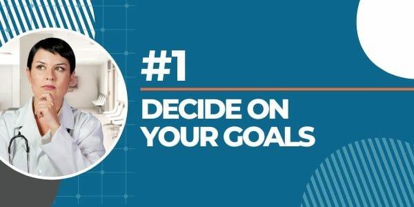deciding on goals