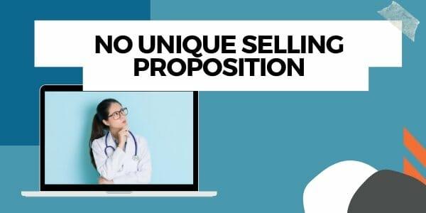 no unique selling proposition
