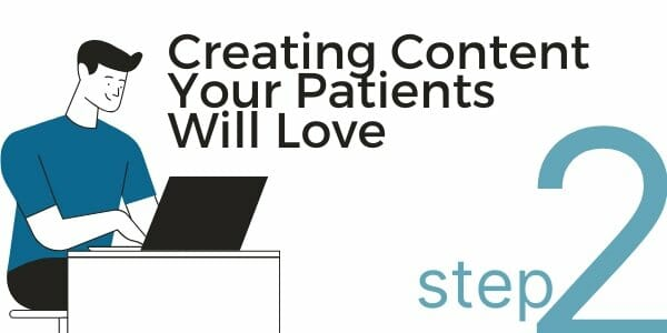 create content for patients