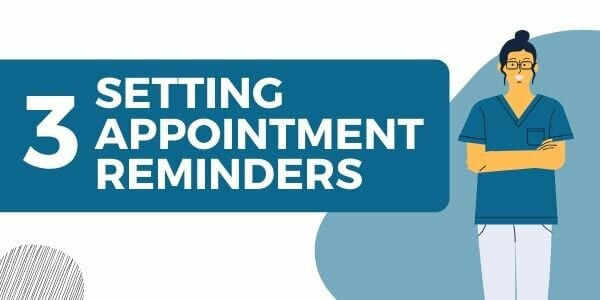 setting appointment reminders