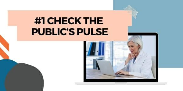 check the public's pulse